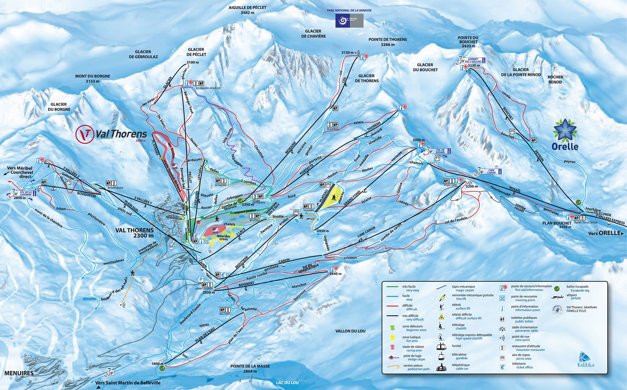 Val Thorens trail map