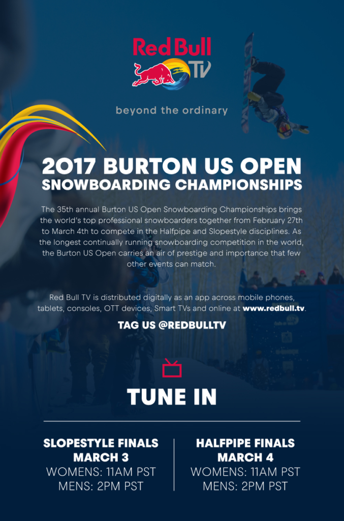 Burton US Open red Bull